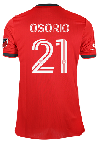 Toronto FC Adidas Men's Authentic 2021 A41 Home Jersey - OSORIO