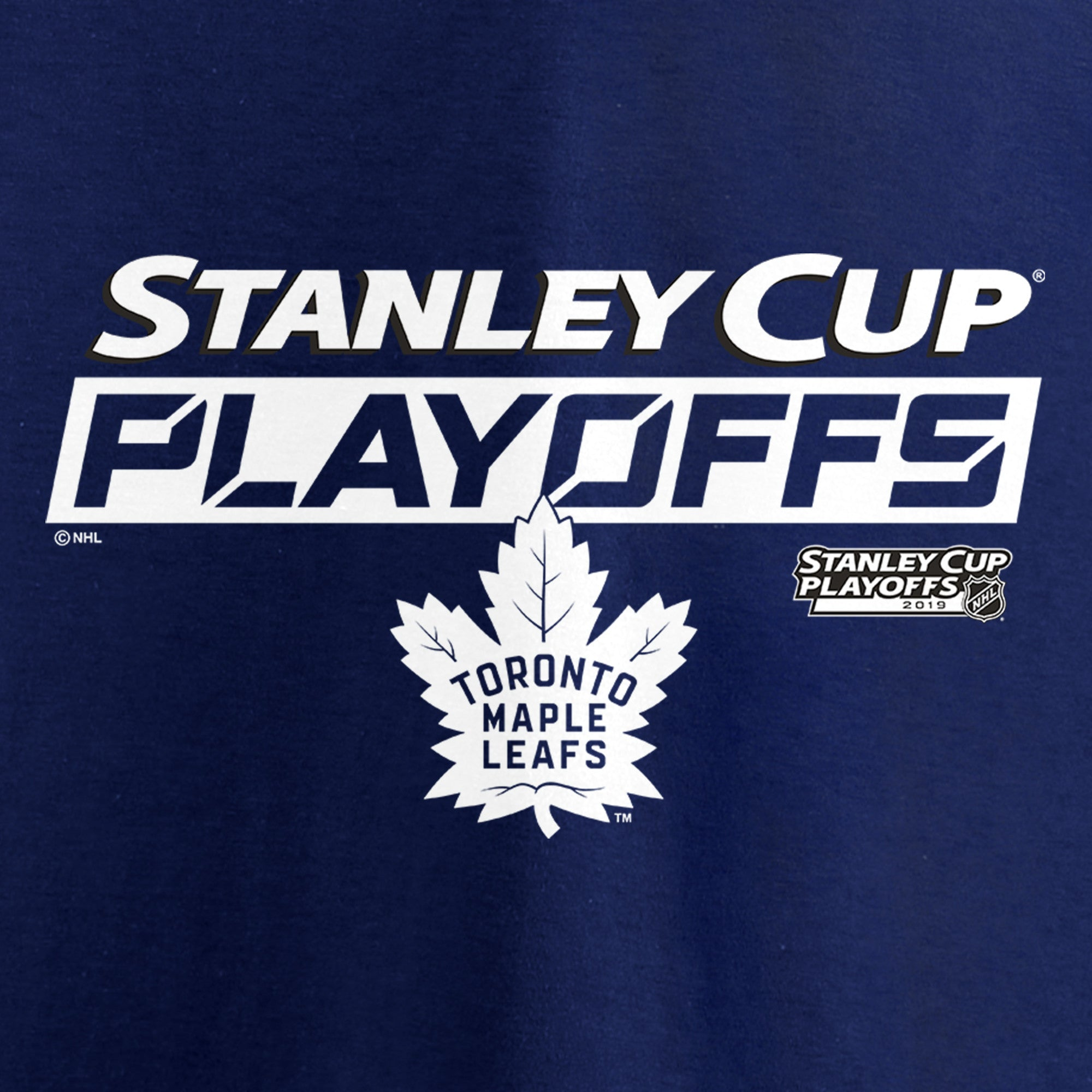 Maple Leafs Fanatics Ladies 2019 Playoffs Tee