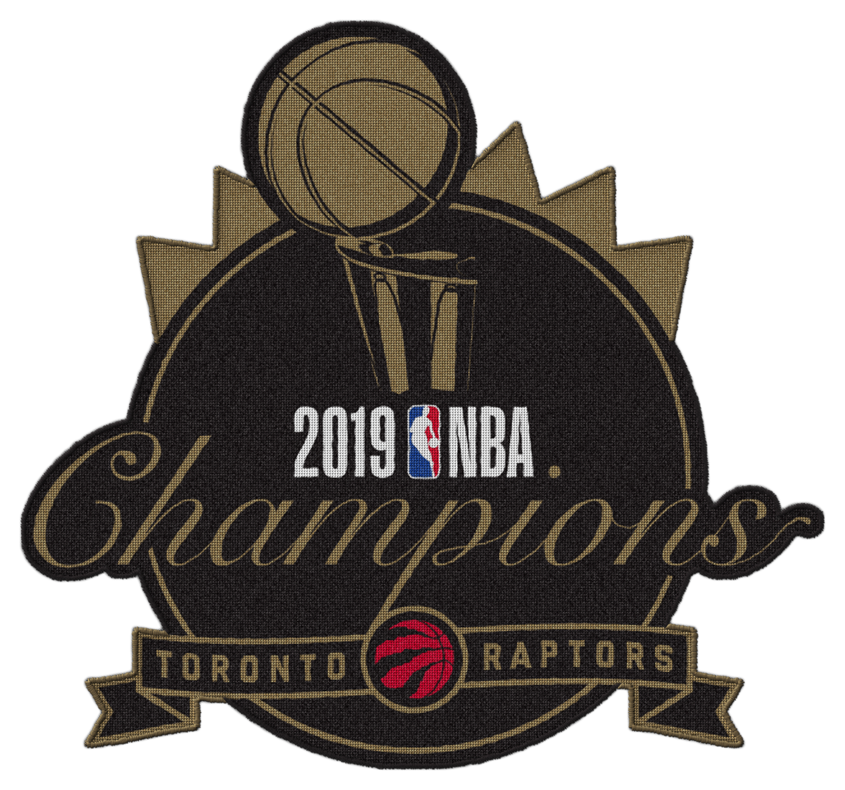 Raptors 2019 NBA Champs Patch