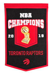 Raptors 2019 NBA Champs Trophy Banner