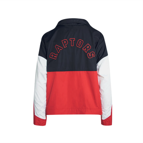 Raptors Nike Ladies Courtside Snap Jacket