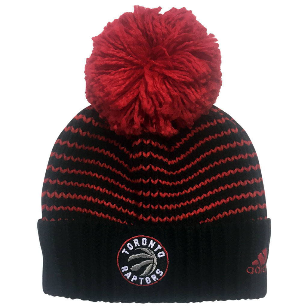 Toronto Raptors Adidas Ladies Oversized Cuff Pom Toque - shop.realsports