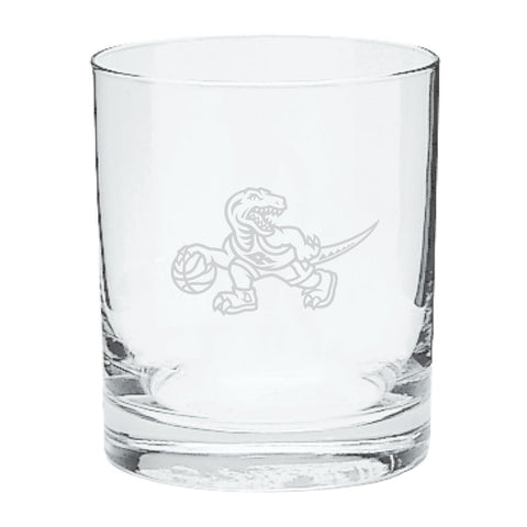 Raptors HWC Etched Rocks Glass