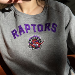 Raptors Mitchell & Ness Ladies HWC Focus Fleece Crew Sweater