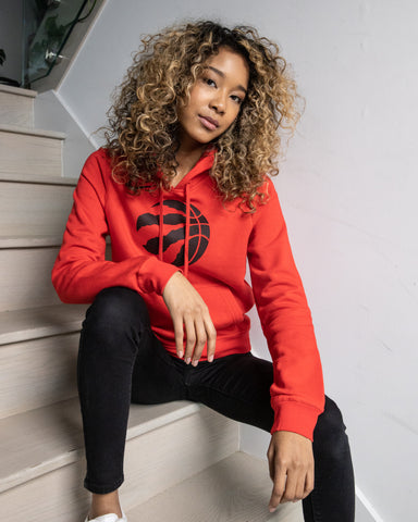 Raptors Ladies Fleece Club Logo Hoody