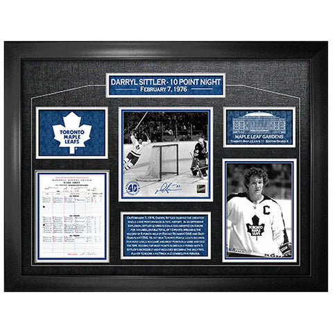 Toronto Maple Leafs 40th Anniversary of Darryl Sittler's 10-Point Night