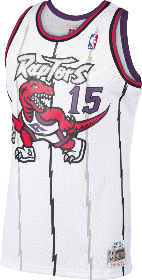 Raptors Men's Mitchell & Ness Swingman HWC White Jersey - CARTER