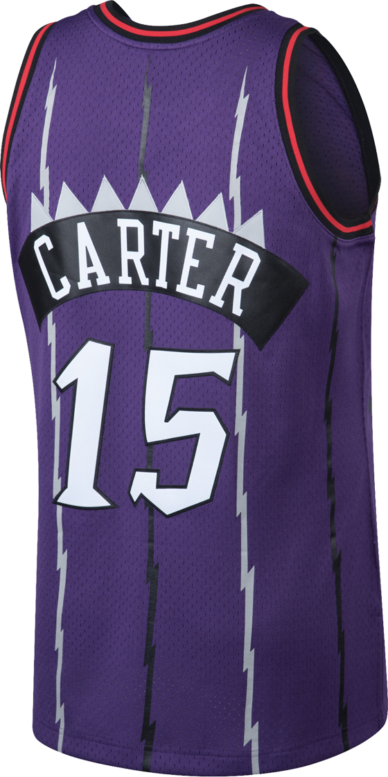 Raptors Men's Mitchell & Ness Swingman HWC Purple Jersey - CARTER