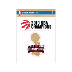 Raptors 2019 NBA Champs 2-Pack Magnet Set