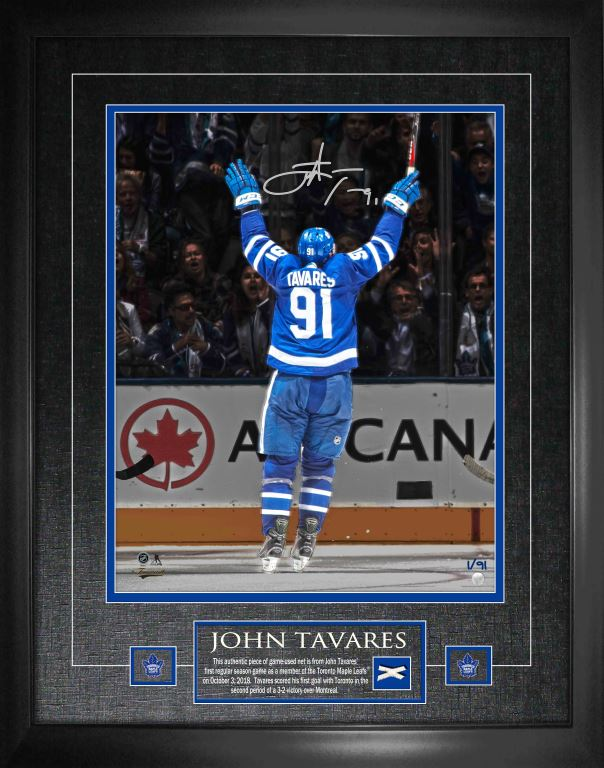 "Tavares Signed Maple Leafs ""1st Goal as a Maple Leaf Celebration"" 16x20 Photo Framed"