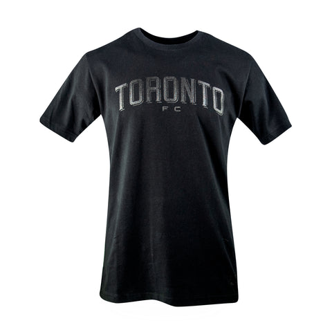 Toronto FC Men's Black & White Wordmark Tee