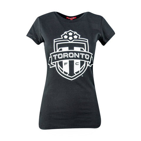Toronto FC Ladies Black & White Tee