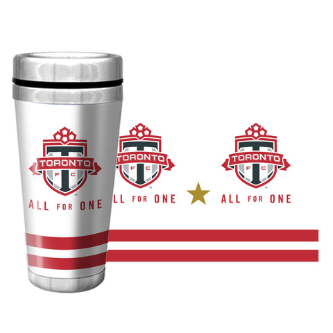 Toronto FC All For One Gold Star Full Wrap Travel Mug