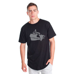 Toronto Argos Men's Map Black Drop Tee