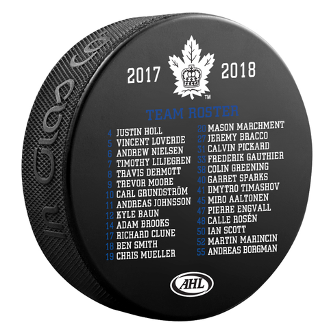 Toronto Marlies 2018 Calder Cup Champions Roster Puck