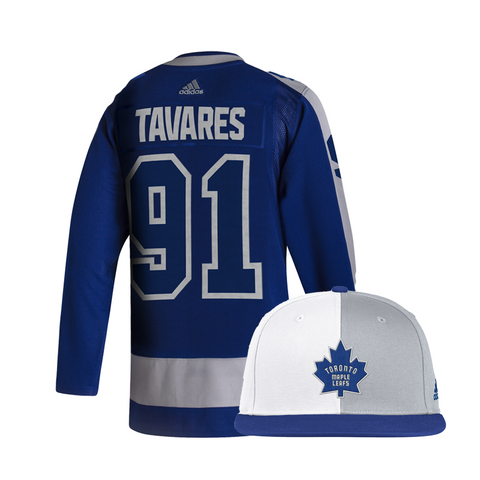 Maple Leafs Adidas Authentic Men's Reverse Retro Jersey + Snapback - Tavares