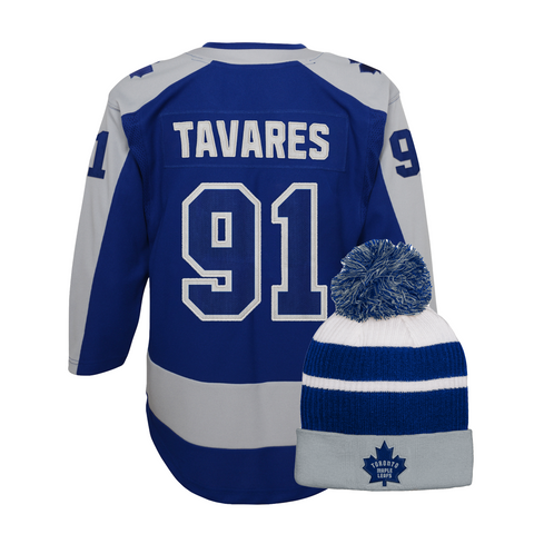 Maple Leafs Youth Special Edition Jersey + Pom Toque - Tavares