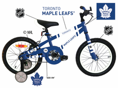 "Maple Leafs Toddler 16"" Galaxy Learning Bike with Training Wheels"