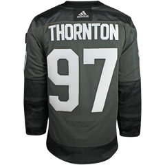 Maple Leafs Adidas Men's Authentic Practice Camo Jersey - THORNTON