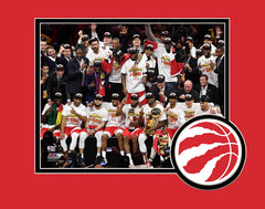 Raptors 2019 NBA Champs Team Celebration Matted 8x10 Photo