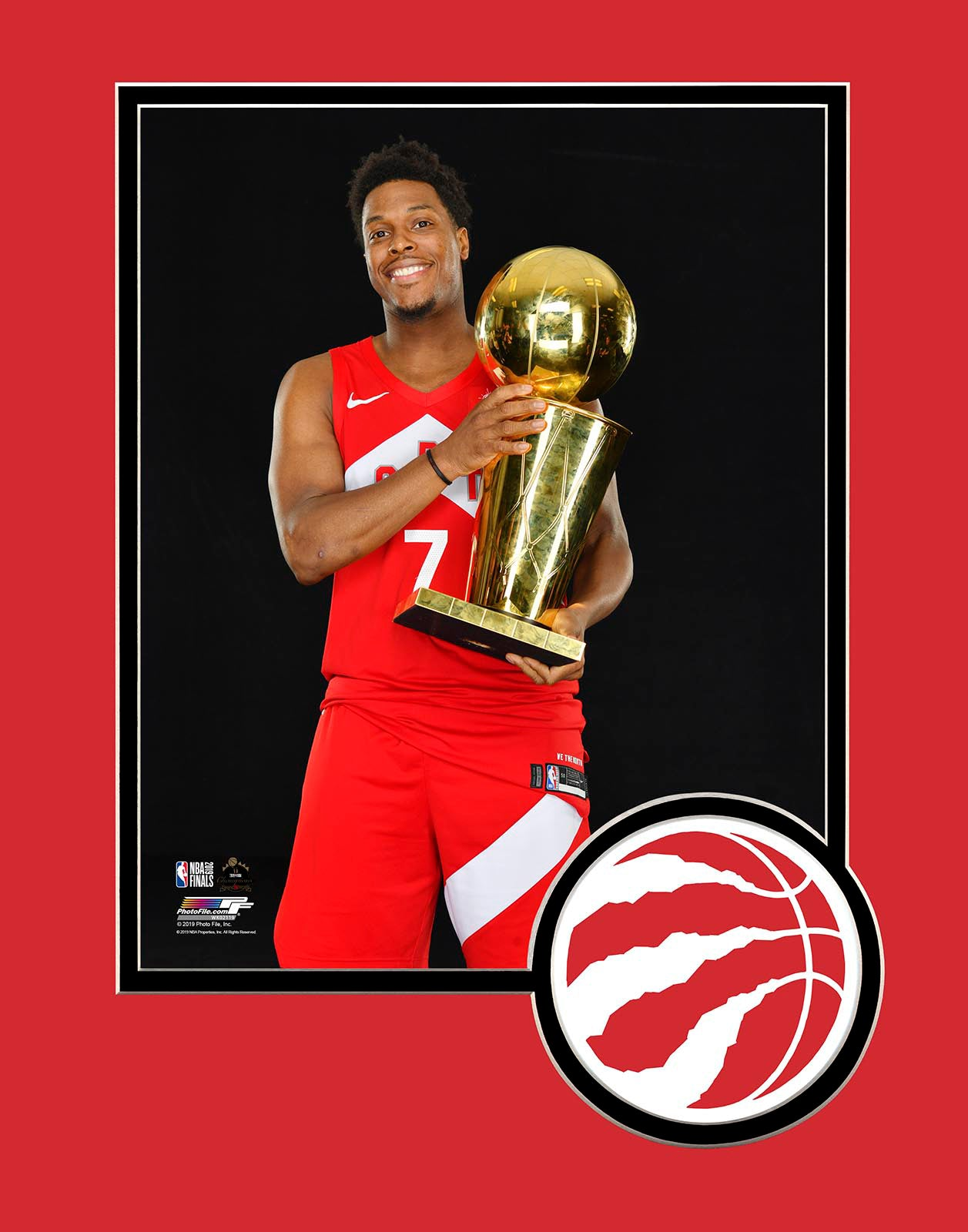 Raptors 2019 NBA Champs Kyle Lowry Trophy Matted 8x10 Photo