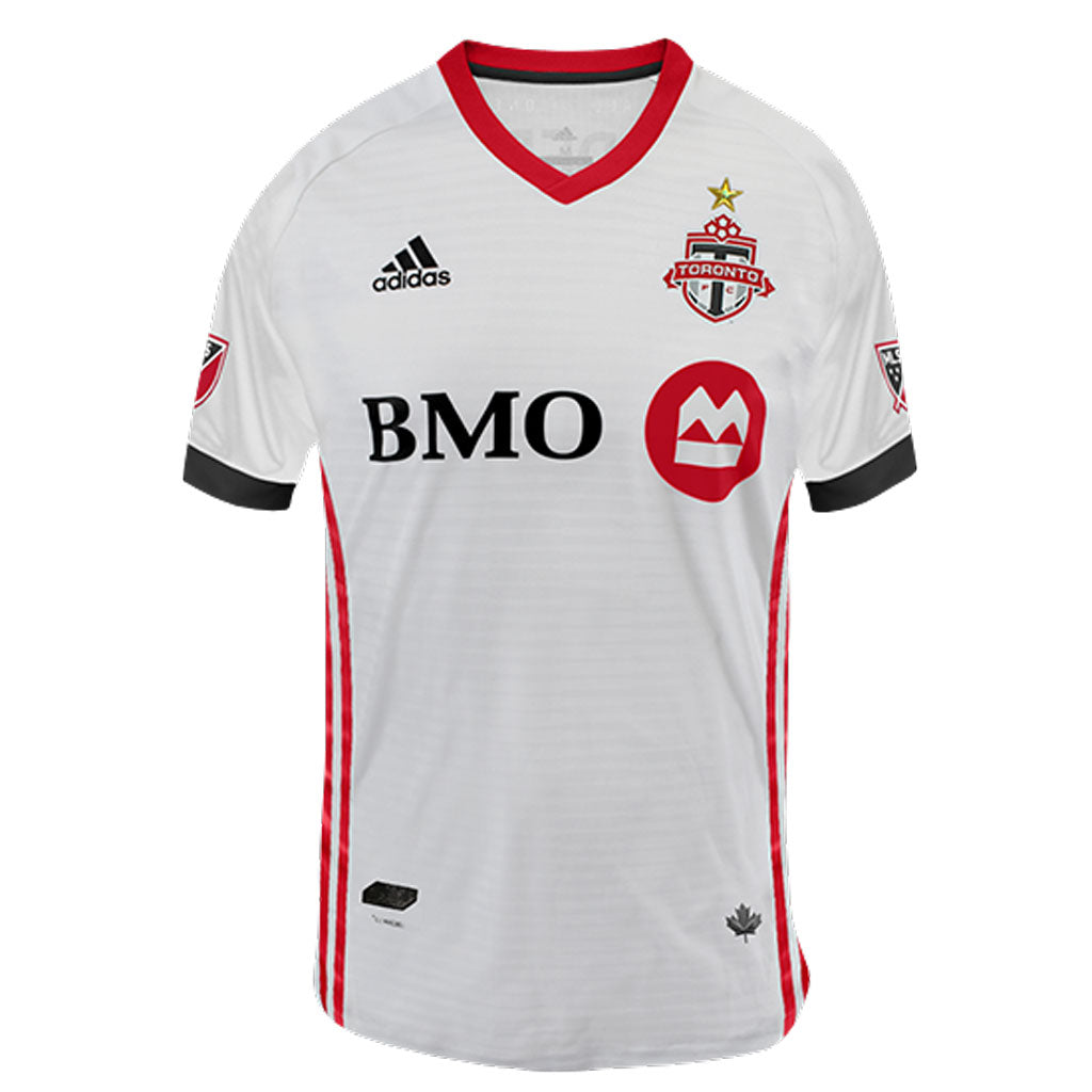 Toronto FC Adidas Men s Authentic S S Jersey - White – shop.realsports 4d49364c2