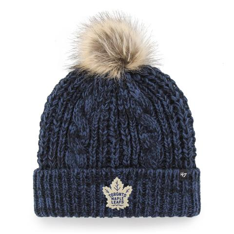 Maple Leafs 47 Brand Ladies Meeko Cuffed Pom Toque