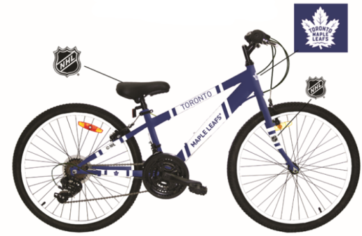 "Maple Leafs Youth 24"" Satellite Mountain Bike"