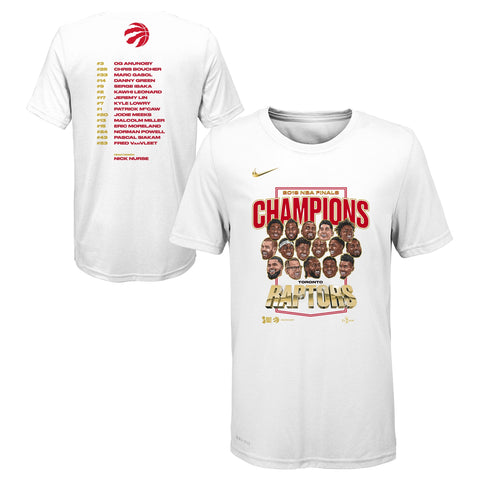 Raptors Nike Youth 2019 NBA Champs Roster Tee