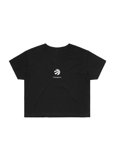 Raptors Peace Collective Ladies 2019 NBA Champs Crop Tee