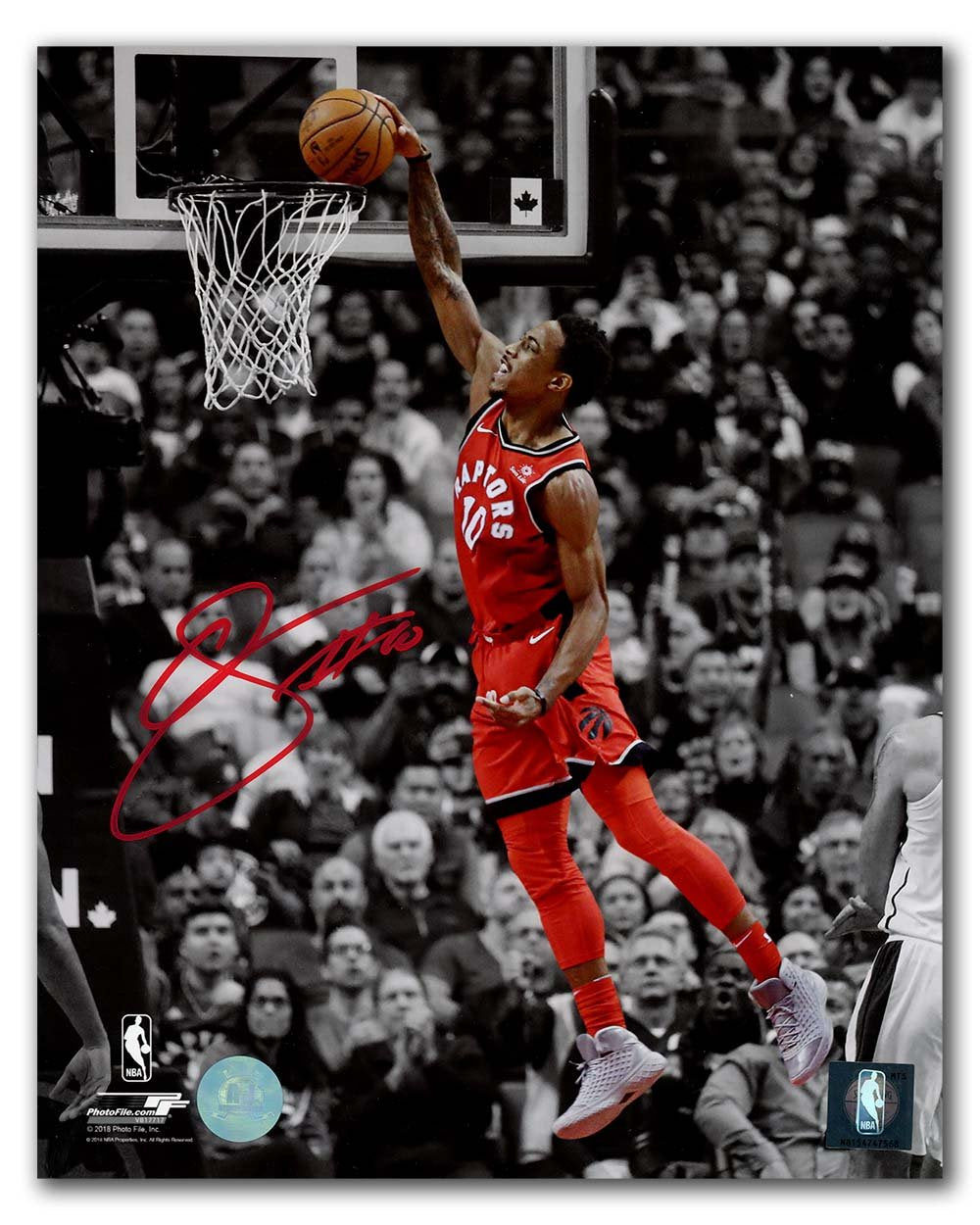 DeRozan Signed Raptors Spotlight 16x20 Photo Framed