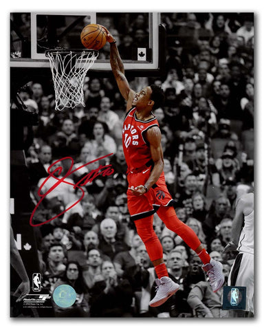 DeRozan Signed Raptors Spotlight 11x14 Photo Framed