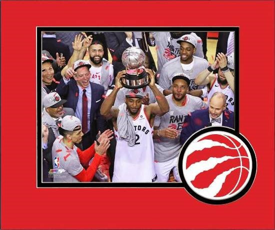 Raptors 2019 Playoffs Kawhi Leonard Trophy Matted 8x10 Photo