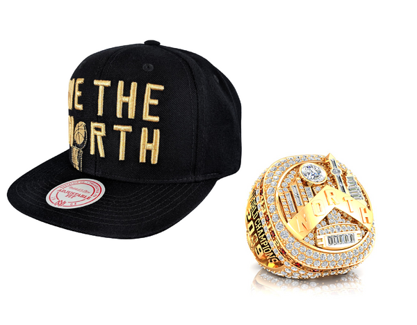 Raptors Mitchell & Ness 2019 NBA Champs WTN Snapback + Ring Bundle *PRE-ORDER*