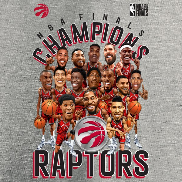 Raptors Fanatics Youth 2019 NBA Champs Character Roster Tee