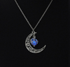 2017 Luna Luminescent Glowing Crescent Moon Vintage Necklace