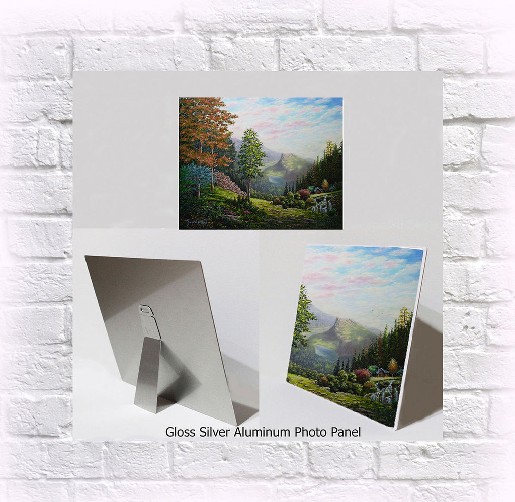 "NEW ITEM! 8"" X 10"" ALUMINUM ART PANEL ""The Pathway to Mount Rundle"""