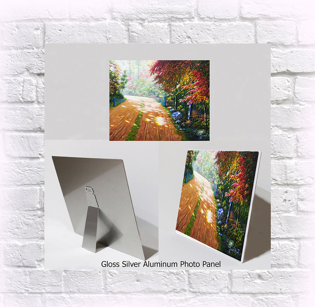 "NEW ITEM! 8"" X 10"" ALUMINUM ART PANEL "" Fall Magnificence"""