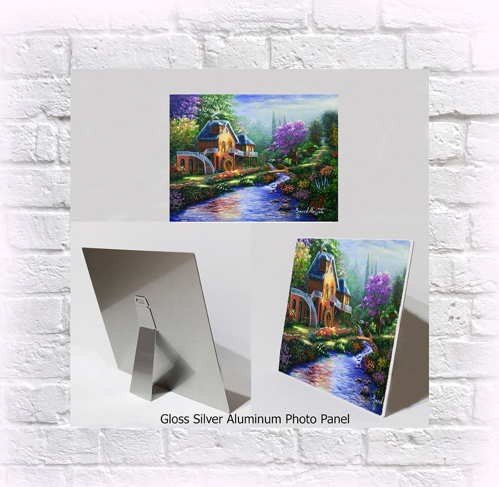 "NEW ITEM! 8"" X 10"" ALUMINUM ART PANEL "" A Simpler Time"""