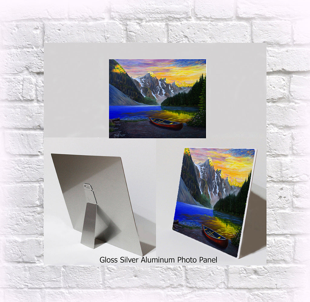 "NEW ITEM! 8"" X 10"" ALUMINUM ART PANEL ""Moraine Majesty"""