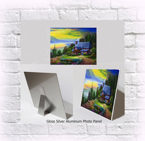 "NEW ITEM! 8"" X 10"" ALUMINUM ART PANEL ""Morning Glory"""
