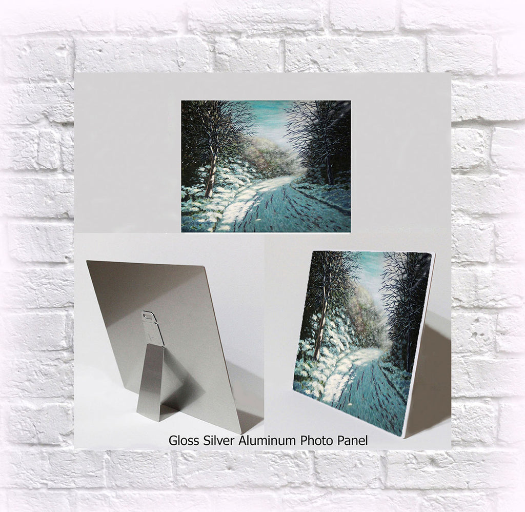 "NEW ITEM! 8"" X 10"" ALUMINUM ART PANEL ""Sister of Winter"""