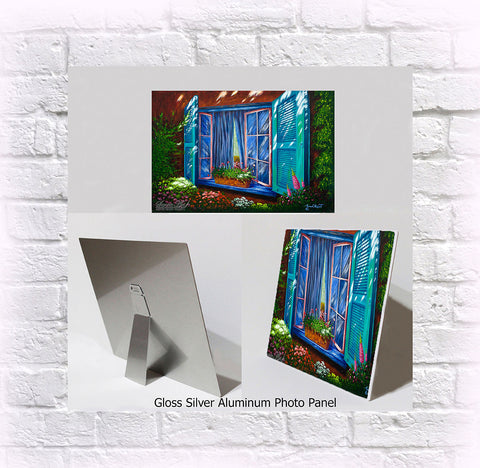 "NEW ITEM! 8"" X 10"" ALUMINUM ART PANEL ""A Sneak Peek"""