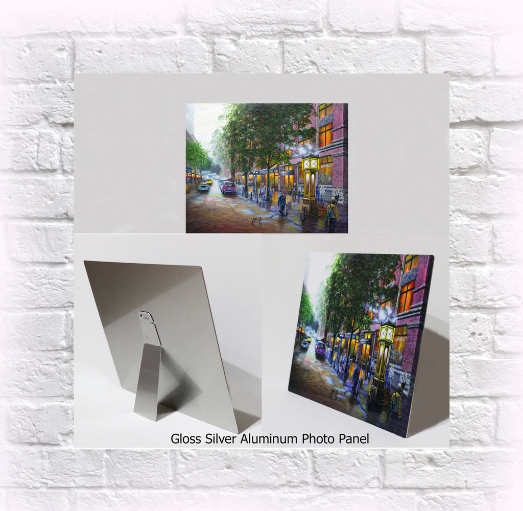 "NEW ITEM! 8"" X 10"" ALUMINUM ART PANEL ""Gastown"""