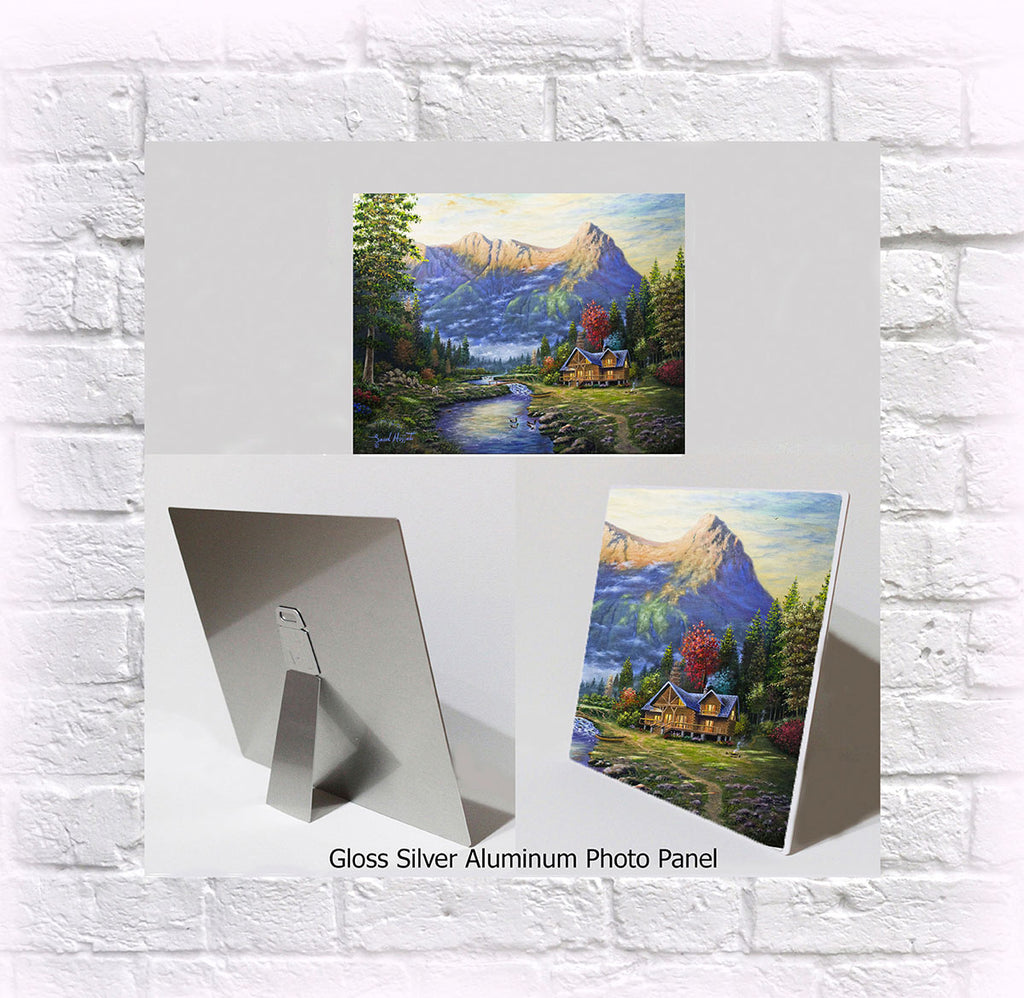 "NEW ITEM! 8"" X 10"" ALUMINUM ART PANEL ""Canmore Cottage"""