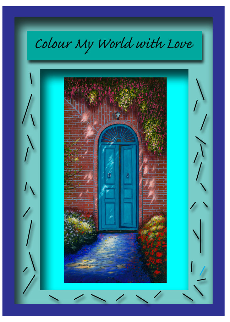 Greeting Card Plaque - Color My World with Love