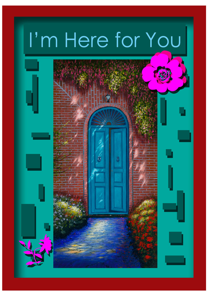 Greeting Card Plaque -I'm Here for You