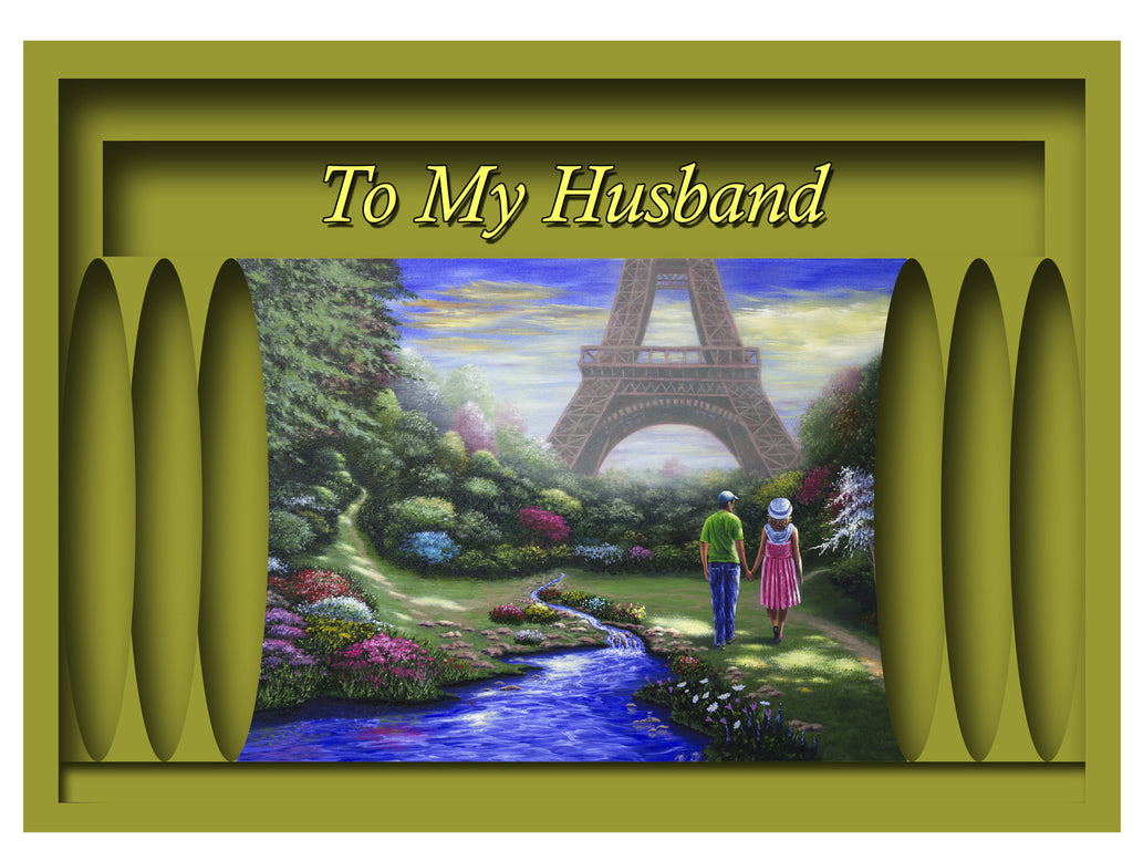 Greeting Card Plaque - To My Husband