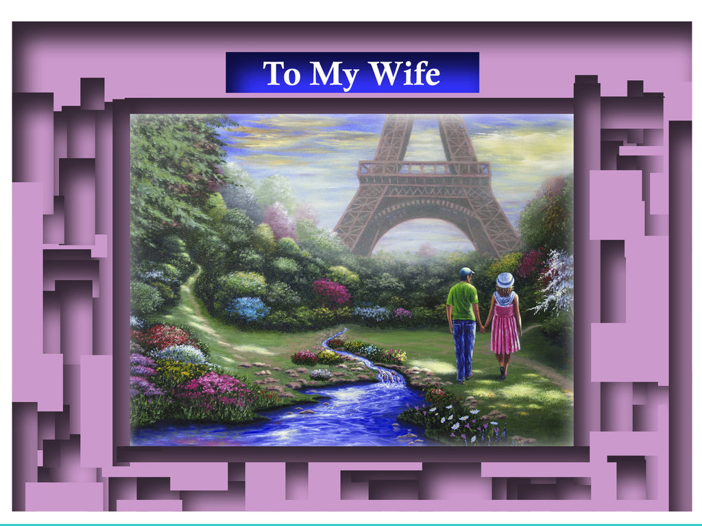 Greeting Card Plaque - To My Wife