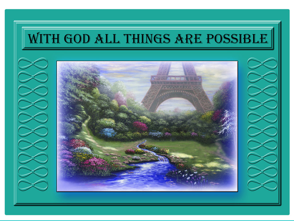 Greeting Card Plaque - With God All Things Are Possible